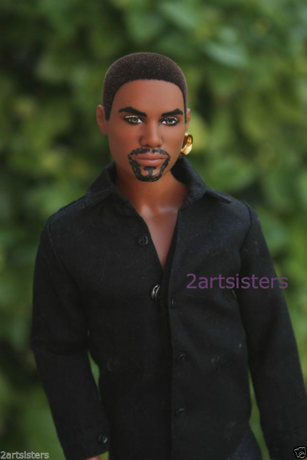 OOAK CINNA Catching Fire Hunger Games KEN Barbie Doll Repaint AA Lenny Kravitz
