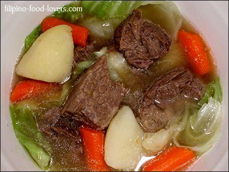 filipino comfort food....nilaga