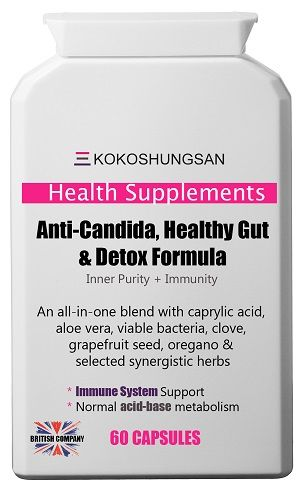 KOKOSHUNGSAN Anti-Candida, Healthy Gut and Detox Formula