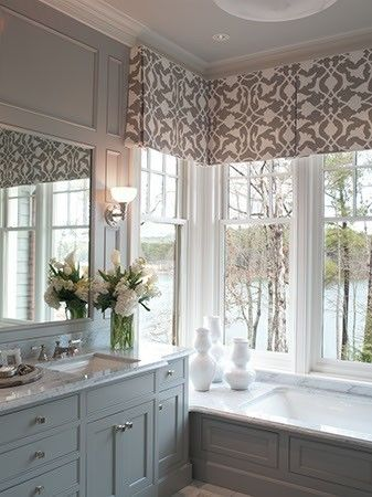 17 best ideas about valances on pinterest valance window for Contemporary window treatments for bay windows