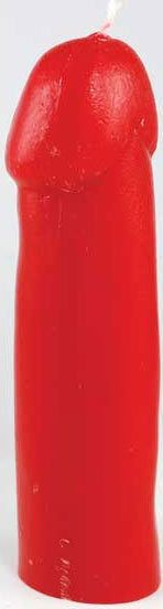 Red Genitalia / Male Gender Penis Ritual Candle Wicca Witch Pagan Spells Goth