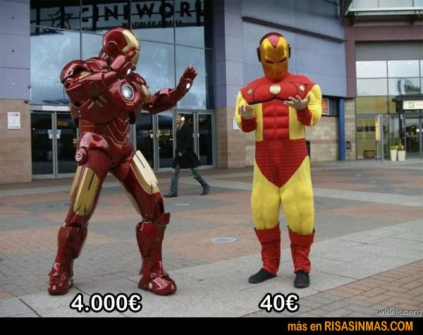 Disfraces de Iron Man según presupuesto...: Geek, Cosplay, Costumes, Irons, Computer Compared, Funny Pictures, Iron Man, Funny Stuff, Ironman