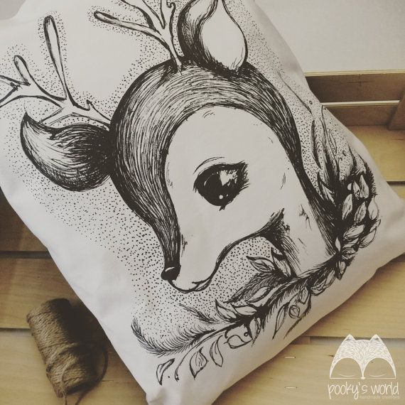 Pillow with author's illustration  textileprinted by Pookysworld
