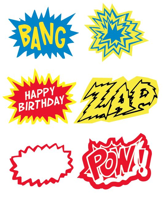 Superhero Party Printable