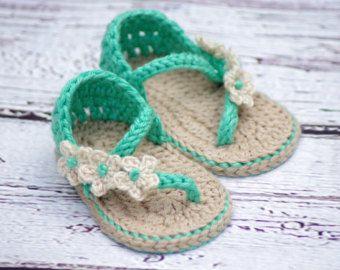 CROCHET PATTERN 211 Baby Sandal 2 Versions by TwoGirlsPatterns