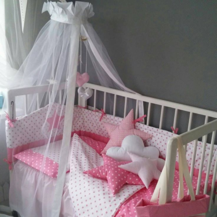 Babygirl crib bedding set from Cot and Cot! Pink and cute!