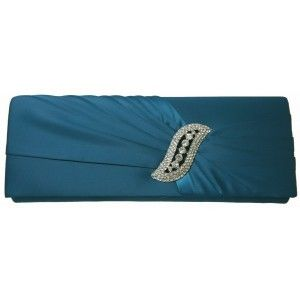This satin #clutch #bag is spectacular with its blue shade and ruched material at the front - See more at: http://myeveningdress.co.uk/clutch-bags/1718-ruched-peacock-blue-evening-bag.html#sthash.Ld84vytG.dpuf