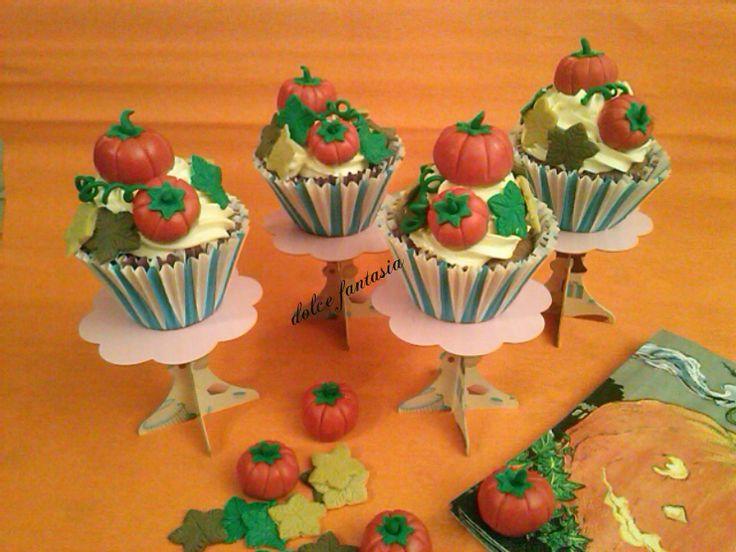 #Cupcakes #zucche di #Halloween