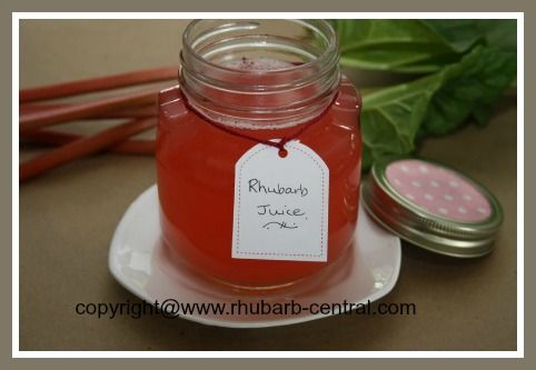 HOW to MAKE Rhubarb JUICE! Easy! Can it or use it fresh to make a rhubarb drink!