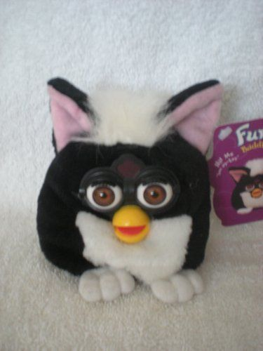 Furby Buddies 'No Hungry' White and Black Bean Bag 5' Plush. #Furby #Buddies #Hungry' #White #Black #Bean #Plush