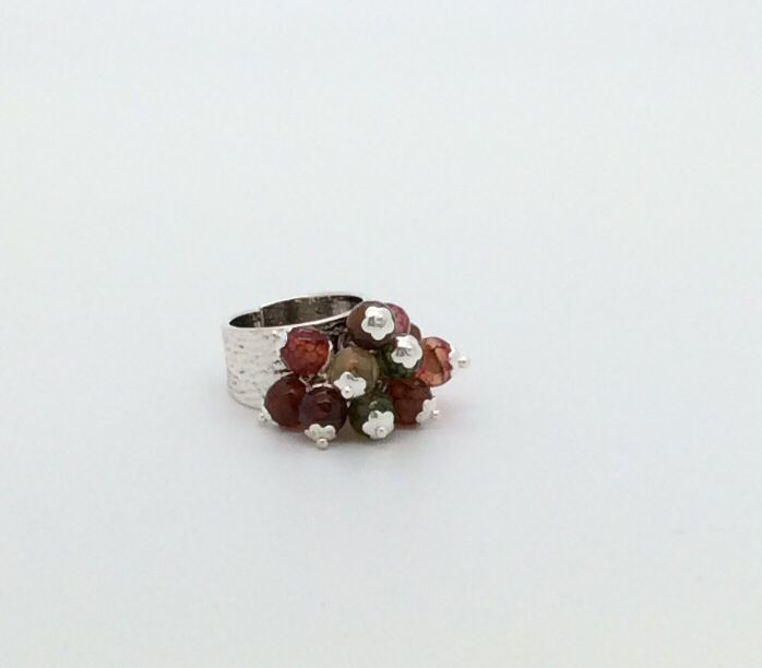 Agate ring made by Frances