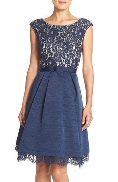 Eliza J Mized Media Fit & Flare Dress available at #Nordstrom