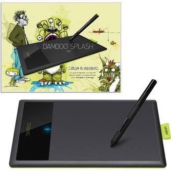 Wacom Bamboo Splash Digital Tablet (Black/Green)