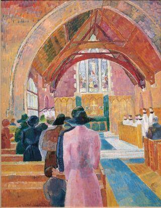 Grace Cossington Smith Church interior c.1941–42