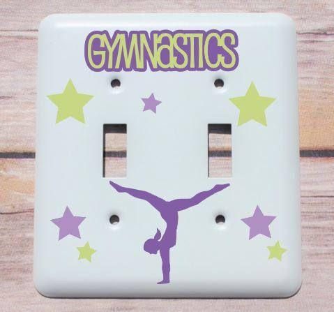 Personalized Gymanstics Decor Childs Light Switch Plate