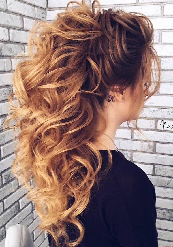 40 Stuning Long Curly Wedding Hairstyles from Nadi Gerber | Deer Pearl Flowers - Part 4