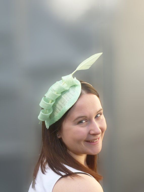 Mint Green Wedding Fascinator Cocktail Hat. by SophieShields, £30.00