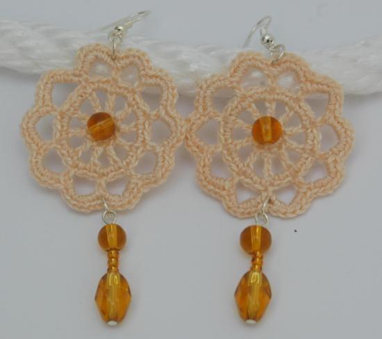 Pendientes de ganchillo- Crochet earrings.