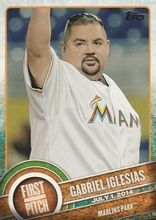 2015 Topps Series 2 First Pitch #FP-25 Gabriel Iglesias - Miami Marlins