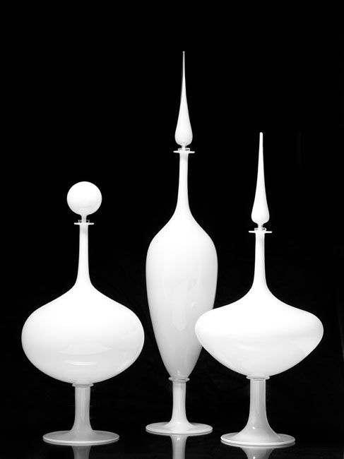 Joe Cariati, opaque glass decanters.