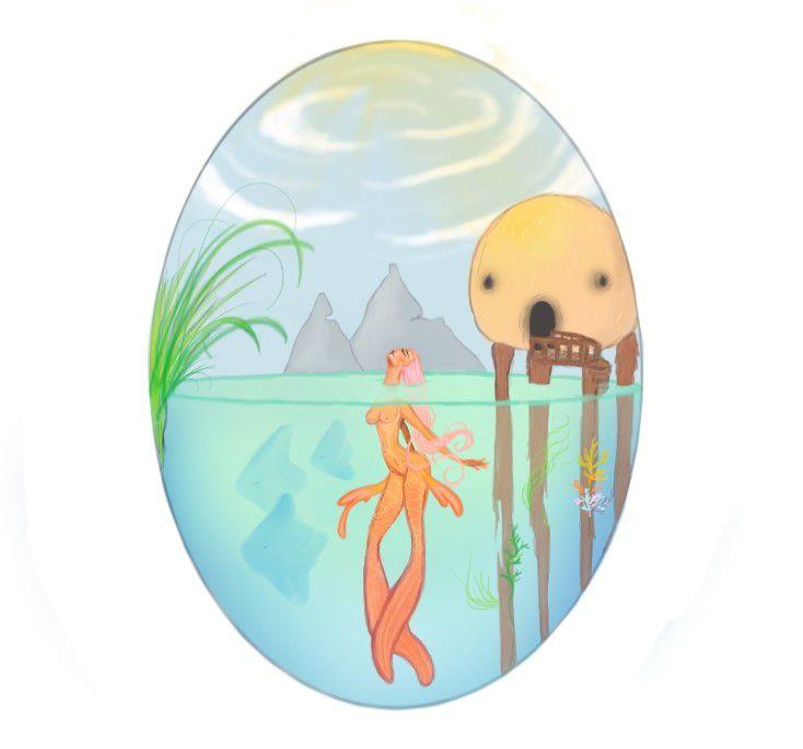 #mermaid #illustration #fantasy #paradise