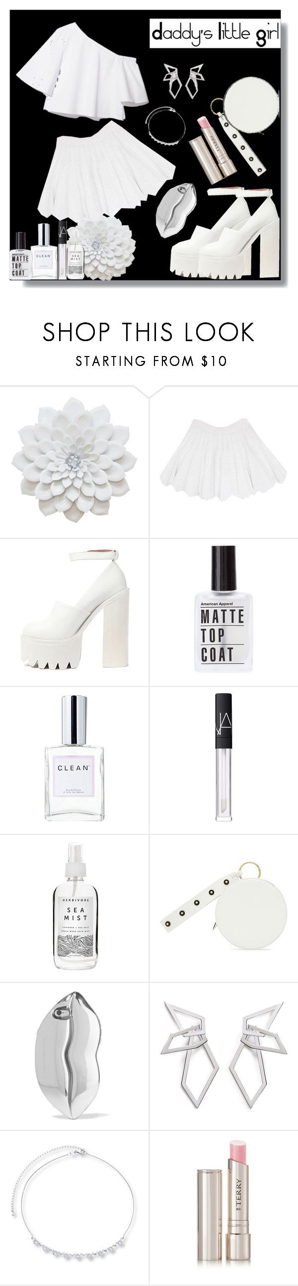 """""""Daddy's Little Girl"""" by mutiahrana ❤ liked on Polyvore featuring Alaïa, Jeffrey Campbell, CLEAN, NARS Cosmetics, Herbivore, Diane Von Furstenberg, STELLA McCARTNEY, W. Britt and By Terry"""