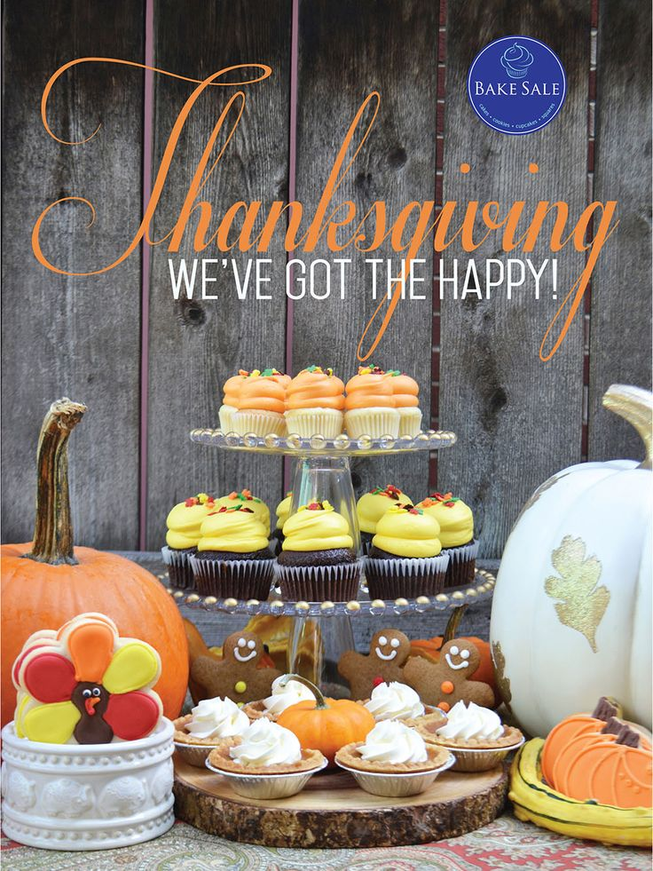 Happy Thanksgiving Bakery Poster. By Bake Sale Toronto