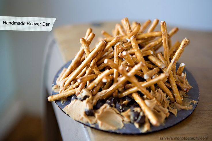 edible beaver dam from All for the Boys blog