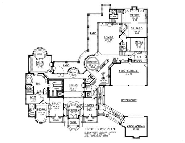 31 best house blueprints images on pinterest house blueprints beautiful plan malvernweather Image collections