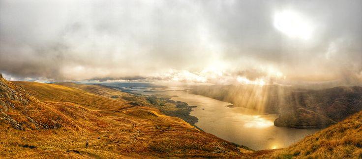 Just caught the sun - Ben Lomond Scotland (7517x3326) http://ift.tt/2xrJbD1