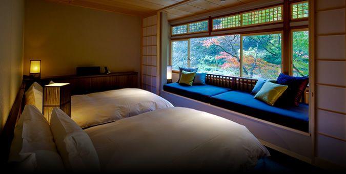 Tsuki Twin Room @ HOSHINOYA Kyoto
