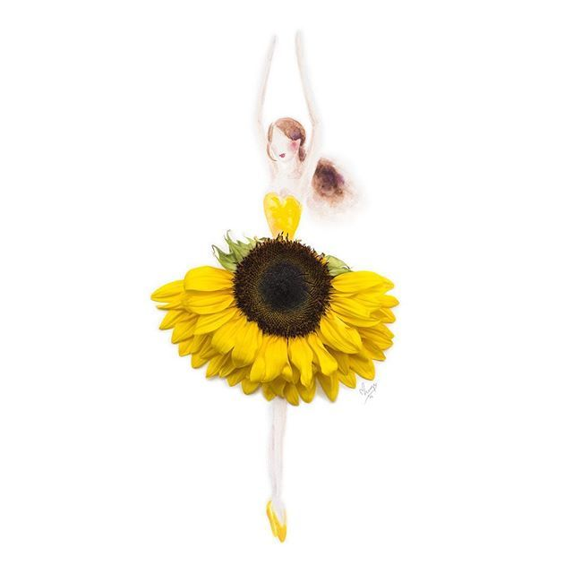 Hello Sunshine, made of a half sunflower, for @goldheartjewelry. #instaartmovement