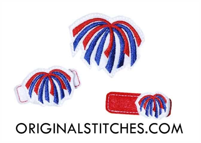 Fireworks Feltie Embroidery Design - Original Stitches