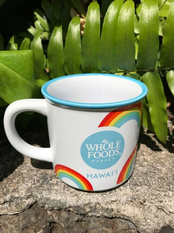 WHOLE FOODS Market Hawaii Rainbow Pride Coffee Mug NWT