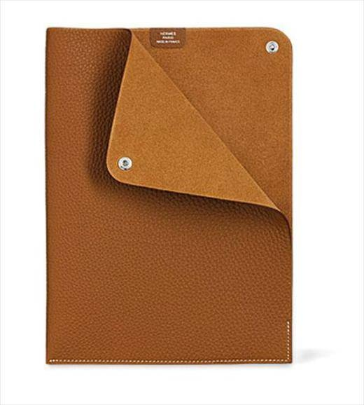 hermes document holder in gold togo calfskin