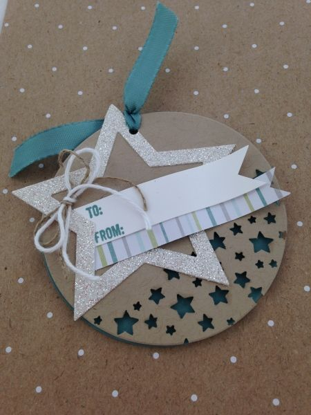 "Lots of Stars---Stampin Up star framelits, star border punch, and 2"" circle punch"