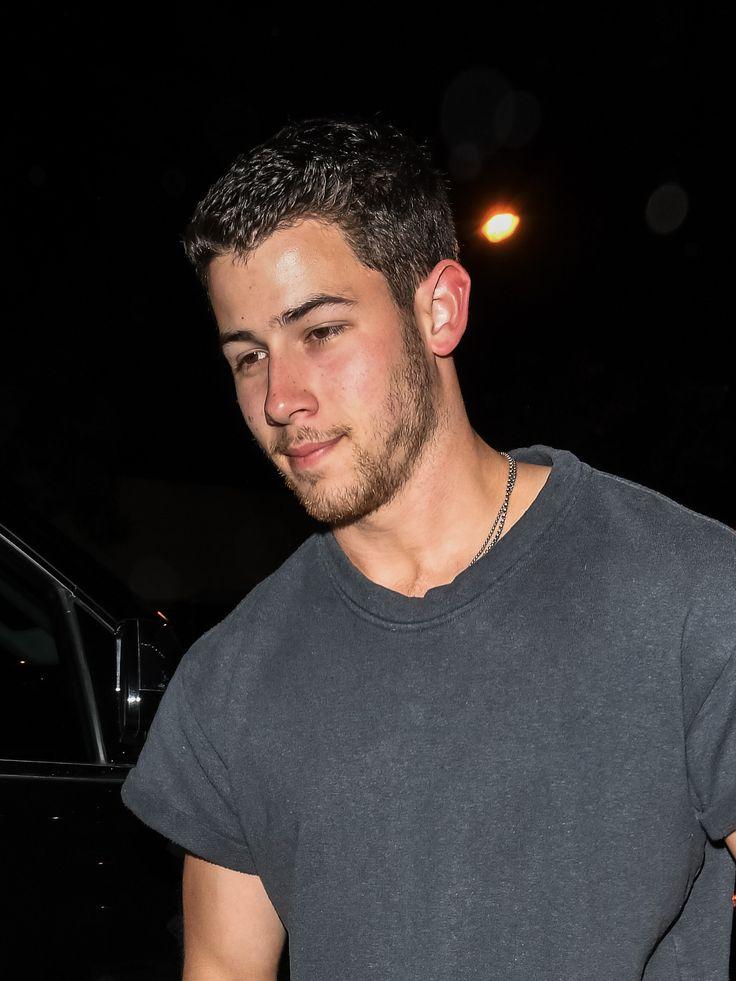 "jobrosnews: ""July 01: Nick Jonas leaving 'Craigs' restaurant with his cute date in West Hollywood, California. """