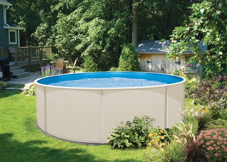 Hard Sided Above Ground Pools offer all the fun of an in-ground swimming pool at a much lower price.: Swimming Pools, Outdoor Ideas, Ft Round, Ground Pools, Ground Backyard, Above Ground Pool, Australian 60S 70S, 60S 70S Childhood