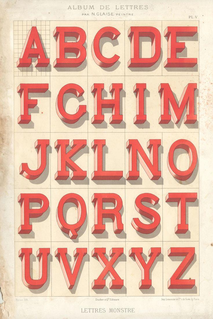 Album de Lettres: Vintage Types, Blocks Letters, Old Schools, Web Design, Typography Poster, Make Mistakes, Typography Design, Graphics Design, 3D Letters