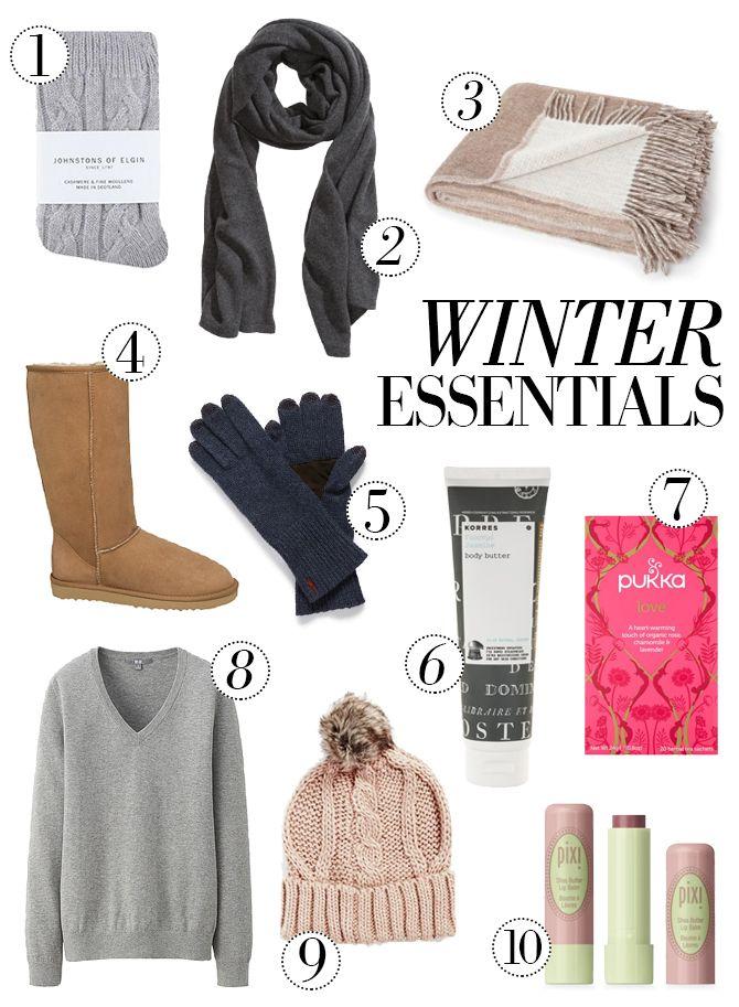 WINTER ESSENTIALS - 10 essentials to make it through this winter...