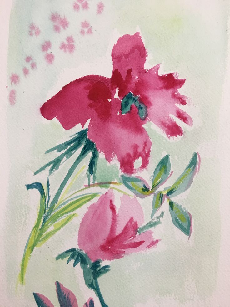 Watercolour on card