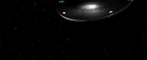 startrekships: USS Lexington going to hyperspace from...