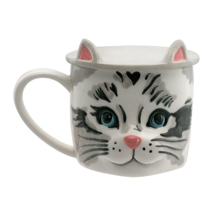 Cat Shaped Mug with Coaster | Afternoon Tea | CathKidston