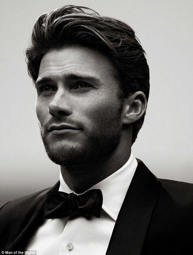 men's dark hair style. lightly gel, brush straight back, run fingers through to mess slightly.