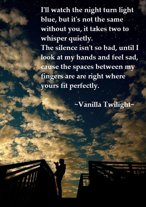 Owl City -vanilla twilight.