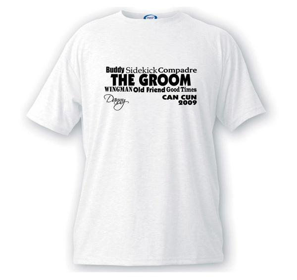 Wingman Groom T-Shirt  #theweddingoutlet