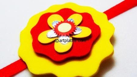 Rakhi Making For Kids - Using Craft Foam • Art Platter