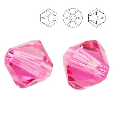 5328 Bicone 6mm Rose 10 pieces  Dimensions: 6,0mm Colour: Rose 1 package = 10 pieces