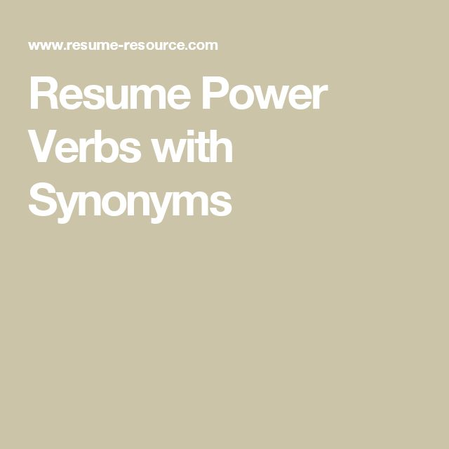 10 best Professional Resume Templates images on Pinterest Plants - power verbs resume
