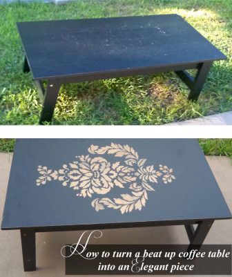 How to turn a beat up table into an Elegant Beauty @Jaymie Cutting Edge Stencils